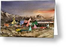 Eyeries Village Beara West Cork Greeting Card