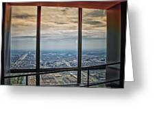 Eyes Down From The 103rd Floor Looking South Greeting Card