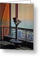 Eyes Down From The 103rd Floor Telescope Looking South Greeting Card
