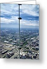 Eyes Down From The 103rd Floor The View From The Ledge Greeting Card