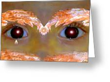Eyes Of A Child Feathered Greeting Card