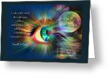 Eyes Of Love Greeting Card