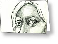 Eyes - The Sketchbook Series Greeting Card by Michelle Calkins