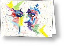 Eyez Greeting Card by Rishanna Finney