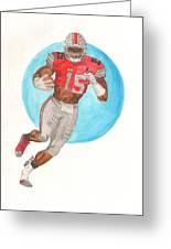Ezekiel Elliott Ohio State Buckeyes Greeting Card