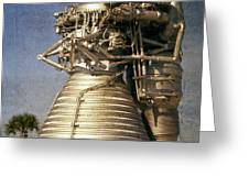 F-1 Rocket Engine Greeting Card