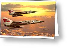 F-106 Delta Dart Intercept Greeting Card