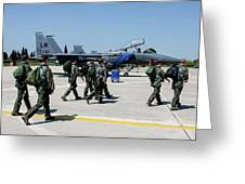 F-15 Pilots Of The 48th Fighter Wing Greeting Card