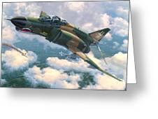 F-4e Mig Killers Greeting Card by Stu Shepherd