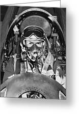 F-84 Thunderjet Pilot Greeting Card