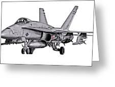 F/a-18c Forward Quarter Greeting Card