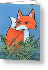 F Is For Fox Greeting Card