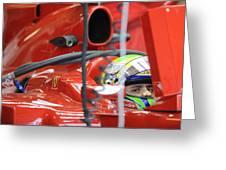 F1 Driver Felipe Massa Greeting Card