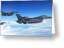 F16 Fighting Falcons Greeting Card