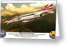 F4-phantom Wings Over Vietnam Greeting Card