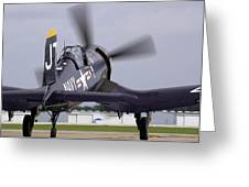 F4u-4 Corsair Prop Wash Greeting Card