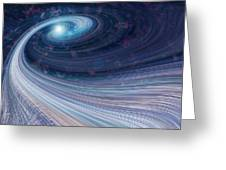 Fabric Of Space Greeting Card by Fran Riley