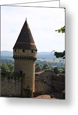 Fabry Tower - Cluny - Burgundy Greeting Card