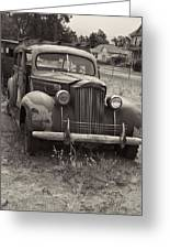 Fabulous Vintage Car Black And White Greeting Card