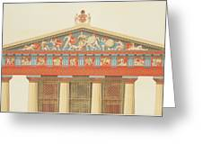 Facade Of The Temple Of Jupiter Greeting Card
