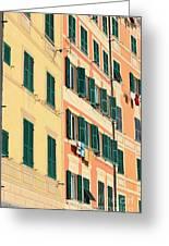 facades in Camogli Greeting Card