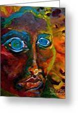 Face 6 Greeting Card by Michelle Dommer