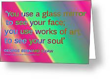 Face And Soul Definitions Greeting Card