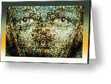 Face Bark Within Greeting Card