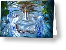 Face In Glass Greeting Card