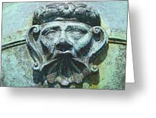 Face In The Cannon Greeting Card