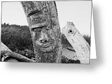 Face In The Drift Greeting Card