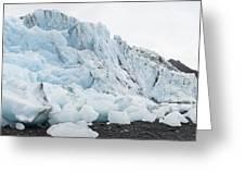 Face Of Bryn Mawr Glacier Greeting Card