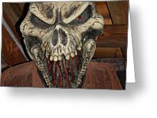 Face Of Death Greeting Card