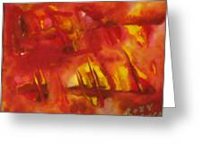 Face Of Fire 2 Greeting Card