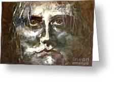 Face Series 1 Greeting Card by Michelle Dommer
