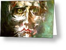 Face Series 2 Greeting Card by Michelle Dommer