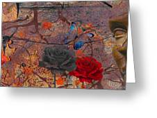 Face The Thorns  Greeting Card