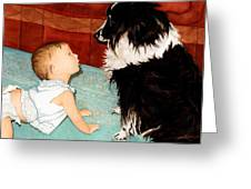 Face-to-nose Greeting Card