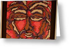 Faces Do Tell Tales 5 Greeting Card