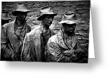 Faces In A Breadline Greeting Card