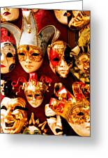 Faces Of Carnavale Greeting Card