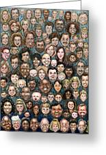 Faces Of Humanity Greeting Card