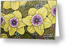 Faces Of Spring    Greeting Card
