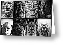 Faces Greeting Card