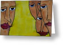 Faces Greeting Card by Shruti Prasad