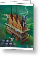 Factory-2 Greeting Card