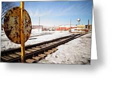 Factory Railroad Greeting Card