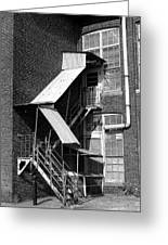 Factory Stairs Greeting Card