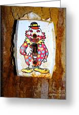 Faded Clown Greeting Card