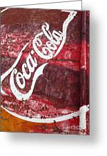 Faded Coca Cola Mural 2 Greeting Card